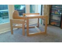 Toddler table & chair / high chair