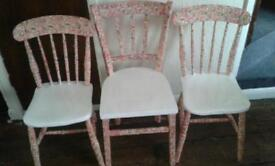 Solid dining chairs