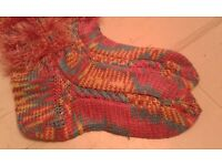 Knitted Colourful Comfy & Cozy Socks Unique Christmas Present