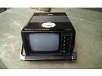 Retro portable tv, battery operated