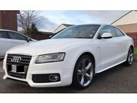 AUDI A5 S-LINE Sp Ed Tdi 2.0 L 6 SPEED MANUAL 2 DOOR COUPE WHITE