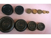 joblot of vintage scale weights