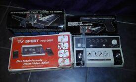 3 Vintage computer consoles