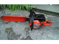 Vintage jonsered petrol chain saw