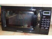 COOKWORKS COMPACT BLACK TOUCH MICROWAVE COOKER GOOD CLEAN WORKING ORDER HARDLY USED + INSTRUCTIONS