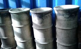 4 Reclaimed Victorian Cannon Chimney Pots - 600x270mm - 'Buff Coloured' - £30 each.