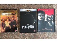 Platoon Limited Edition, Lost Boys & Boyz N the Hood DVDS