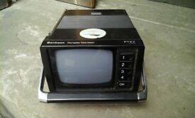 Retro portable tv- battery operated