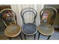 Vintage cain chairs x3