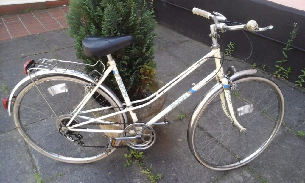 """ladys PUCH bike (retroin Norwich, NorfolkGumtree - nice ladys bike ready to ride and has had a full service im our shop. has 28"""" wheel base 6 speed gear 20"""" frame collection only price holds 6 pottergate nr2 1ds few rust marks on frame but has been treated. has been washed oiled and fully checked"""