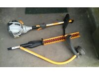 Ryobi petrol hedge cutter and strimmer