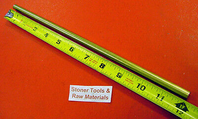 38 C360 Brass Solid Round Rod 12 Long H02 New Lathe Bar Stock .375