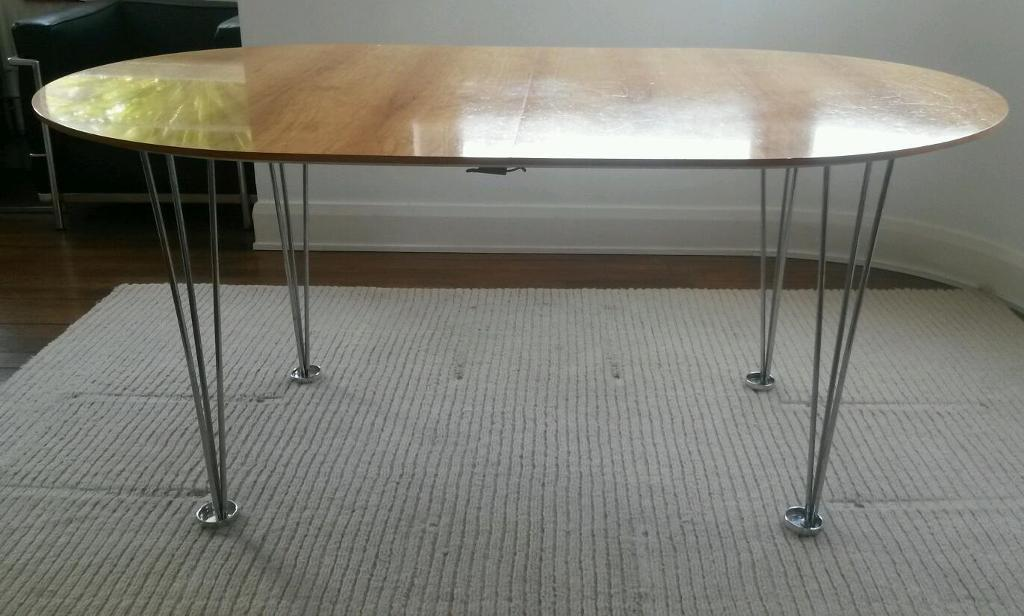 1960s hairpin leg extending dining table in Bromley London