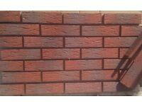 Brick slips/tiles. Red Sanded. Colour 335-RF
