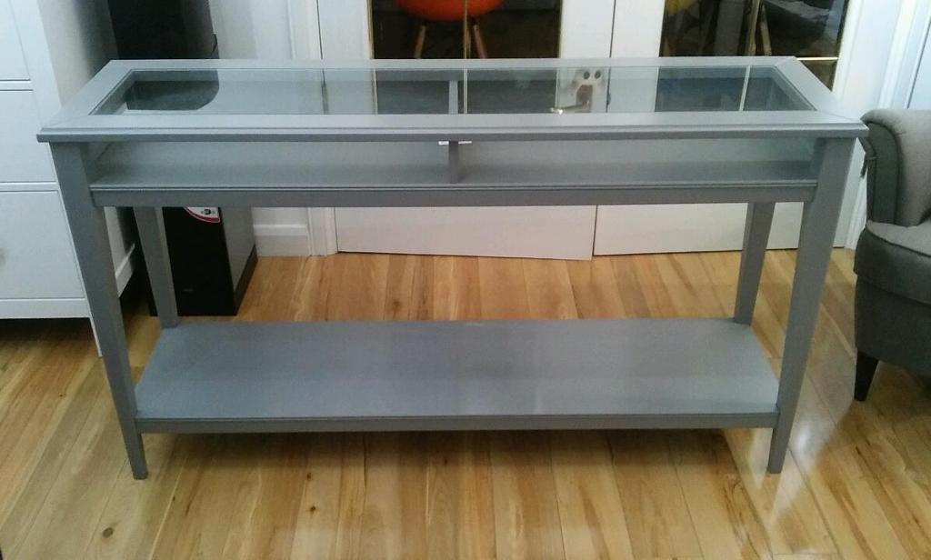 Ikea grey liatorp console table sideboard as new rrp 160 for Ikea hall table