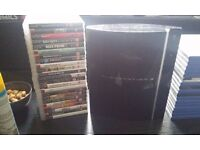 Playstation 3 w/ 23 games and GUITAR HERO Les Paul controller