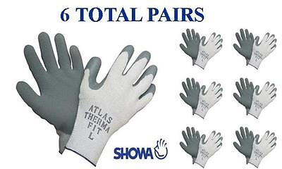 Showa 451 Atlas Therma Fit Insulated Winter Work Glove -6 Pair- Choose Mdlgxl