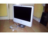 "iMac 20""/ INTEL CORE DUO 2GHZ/ 1GB / 250GB / ATI X1600 256MB GDDR3 / OS X 10.6.8 / SPARES"