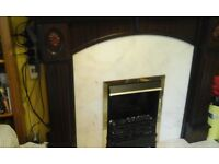 Fire place and surround and heater