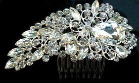 Rhinestone Crystal Hair Comb Wedding Bride Bridesmaid