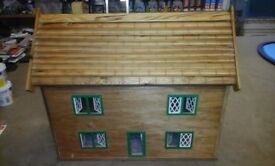Hand made wooden dolls house