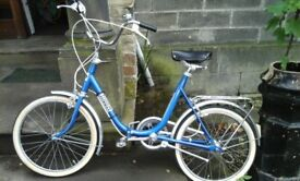 1980's Retro tripper fold up bike in great condition