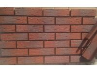 Brick slips/tiles. Red Sanded. Colour 335-RF.