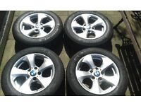 BMW ALLOY WHEELS WITH 205/60/R16 TYRES