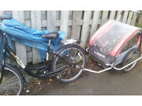 Double child trailer and/or bike