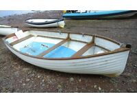 14FT ROWING/DAY BOAT, FIBREGLASS / WOOD