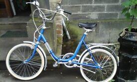 Retro tripper fold away bike
