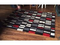 Red & Grey Rug - 230cm x 160cm - Great condition