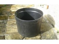 Plastic water tank, large cylindrical shape