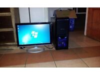 "DUAL CORE DESKTOP PC with 19"" Monitior,Windows 7 Ultimate,Card reader,1TB HDD,2GB RAM & WIN 8 DVD!"