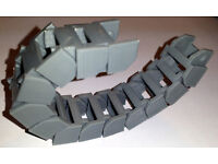 Cable drag chain for CNC or 3D printer machine, cable duct, parametric chain - any lenght