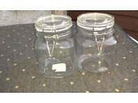 2 x Kilner Jars for storage/display