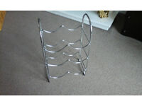 Chrome 6 bottle wine rack