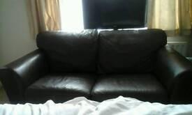 Genuine italian leather 2 seater sofa