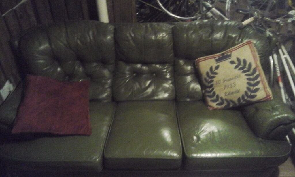 chesterfield leather sofa (has been cleanedin Norwich, NorfolkGumtree - LEATHER SOFA HAS BEEN CLEANED....NEED GONE TO MAKE SPACE FOR MY SHOP. HAS TO BE PICKED UP BY YOURSELF. 6 POTTERGATE NR2 1DS COLLECTION ANYTIME BY APPOINTMENT PRICE HOLDS