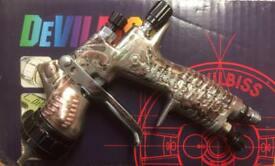 Devilbiss GTI Pro Lite HV30 Steampunk Special Edition Spray Gun