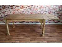 Very Large Rustic Extending Rustic Farmhouse Dining Table
