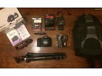 Canon EOS 7D Camera KIT - Extras Inc. Manfrotto Tripod/Lowepro Bag
