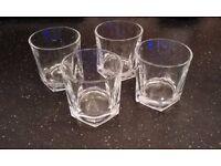 4 x 26cl Whisky Glasses - Brand New