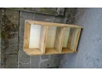 Handmade rustic pine bookcase