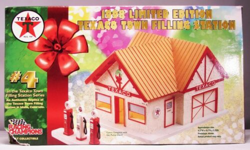 TEXACO 1998 LIMITED EDITION TOWN FILLING STATION #4 IDALIO CO, COLLECIBLE - NEW