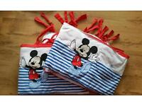 Mothercare micky mouse cot bumpers. Feltham