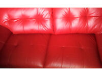 Brand new! 3 seater Amaizing RED leather sofa