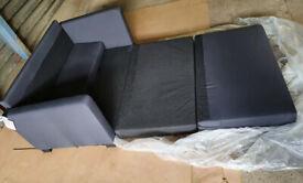 Ex Display Fabric Sofa Bed - Grey