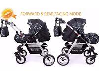 Pushchair + 3in1 + Car Seat + baby pram + stroller + Buggy Travel System