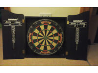 Winmau Professional Dart Board Set (Dart Board Cabinet, Dart Board & 2 Sets Of Darts)
